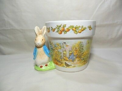 1997 Beatrix Potter Peter Rabbit Planter Vase