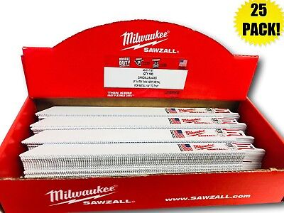 """(25 PACK) Milwaukee 48-01-7187 9"""" 14 TPI Thin Kerf SAWZALL® Blades for 2720-20"""