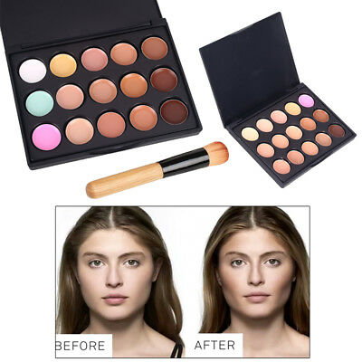 Anti-Cernes 15 Color Face Concealer Camouflage Cream Contour Palette Cottect