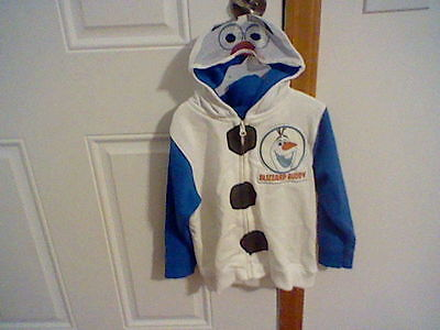 Brand New Toddler Boys Size 4T Disney Frozen Zipper Front Jacket With Hood