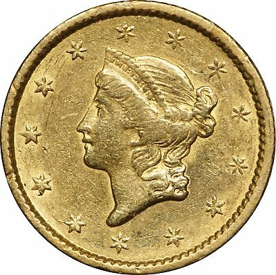1851 Liberty Head Gold Dollar, Type 1, AU, $1 About Uncirculated