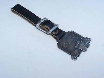 Caterpillar Tractor Co. Peoria Ill. Scraper Watch Fob Leavens Mfg. Co. Mass.