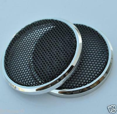 "2pcs 1"" inch 21# Tweeter Audio Decorative Circle Speaker Metal Mesh Grill Cover"