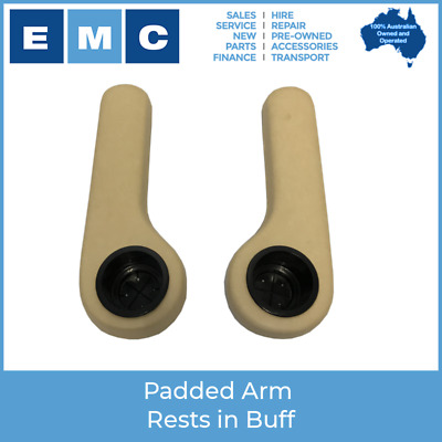 Padded Arm Rest with Cup Holders - Universal Fit - Buff Colour