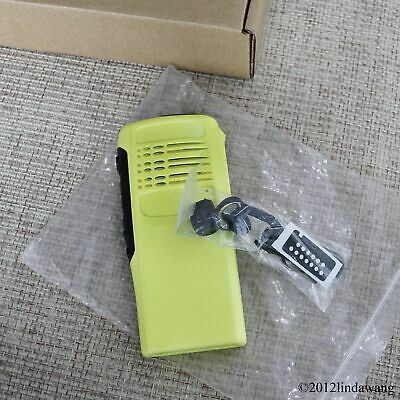 Yellow Refurbish Front Housing Cover Case Kit for Motorola GP340 Portable Radio