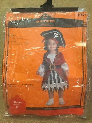 Morris Costumes Girls New Toddlers Pirate Princess Costume Size 2T - Pre-Owned  sc 1 st  PicClick & MORRIS COSTUMES GIRLS New Toddlers Pirate Princess Costume Size 2T ...