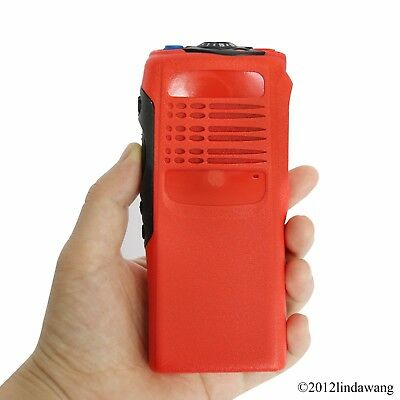 Red Housing Cover Case Replacement Refurbish for Motorola GP340 Two Way Radio