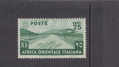ITALIAN EAST AFRICA-1938-25c GREEN-MINT SMALL HINGE REMAIN-SG 7-$3-freepost