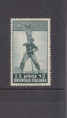 ITALIAN EAST AFRICA-1938-15c GREEN-MINT HINGE GUM REMAIN-SG 5-$3-freepost