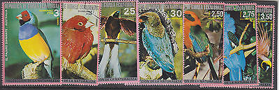 Equatorial Guinea-1974-Birds X 7-Large Colourful-Cto