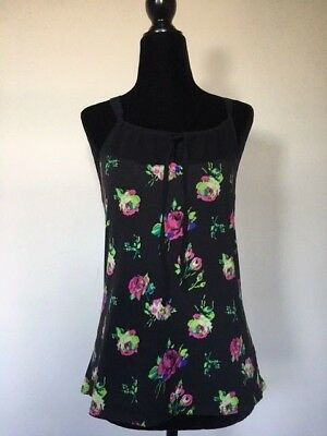 Betsey Johnson Black Floral Camisole Small