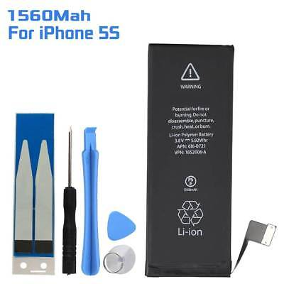 1560mAh Replace Internal Li-ion Battery Flex Cable Adhesive+ Tools for iPhone 5S