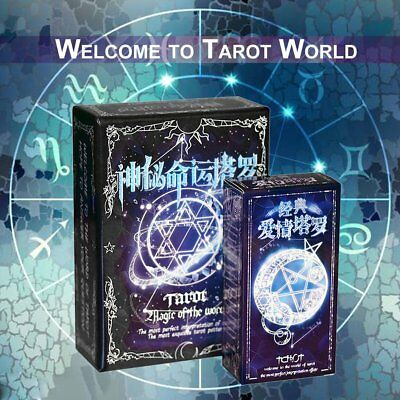 Tarot Cards Game Family Friends Read Mythic Fate Divination Table Games BW