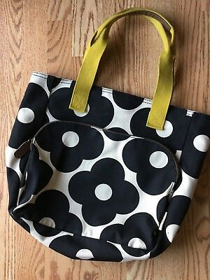 d123eec438c4 Orla Kiely for Target Yoga Bag Tote Black Floral Cream Excellent Used  Condition