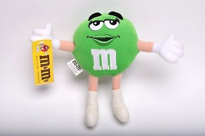 "M&M Vintage 1997 Ms. Green Soft Bendable Plush 10"" Female Official Mars Product"