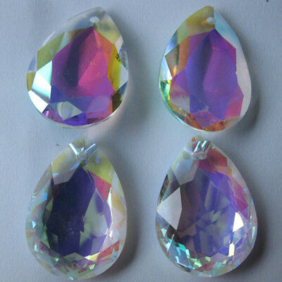 10X Colorful Glass Crystal Prisms Pendant Chandeliers Drop Jewelry DIY Making