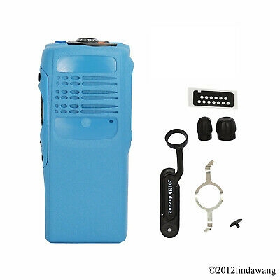 Blue Refurbishment Housing Cover Case Repair for Motorola GP340 Two Way Radio