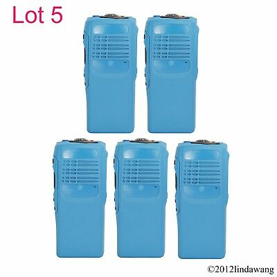 5X Blue Housing Cover Case Refurbishment Kit for Motorola GP340 Two Way Radio