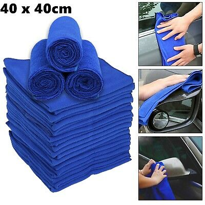 5Pcs Microfibre Cleaning Cloth Towel Car Valeting Polishing Duster Kitchen Wash