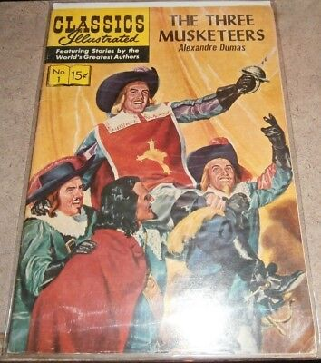 CLASSICS ILLUSTRATED Comic Lot 1 2 3 THREE MUSKETEERS Ivanhoe Count Monte Cristo