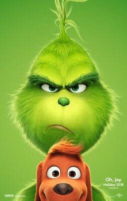 The Grinch-(2018) 27X40 (Ds) Large Movie Poster-Benedict Cumberbatch-Advance 2