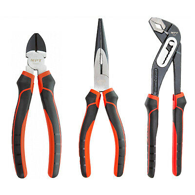 MPT Commercial CrV Quality 3x Cutters Pliers Grips Water Pump Wrench Snips Pack
