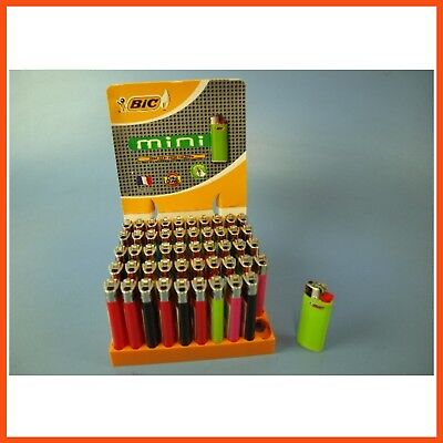 50 Small BIC LIGHTERS with Child Guard | Disposable Tobacco Cigarette Lighter