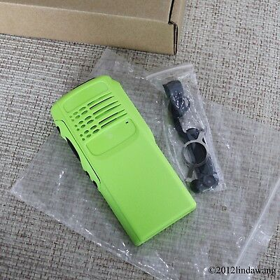 Green Replacement Refurbish Kit Housing Case  for Motorola GP340 Portable Radio
