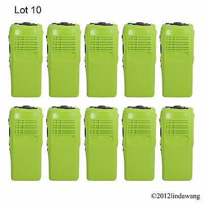 10X Green Housing Cover Case Refurbish Kit for Motorola GP340 Portable Radio