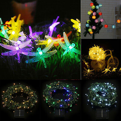 20/100 LED Solar Powered Fairy String Light Outdoor Wedding Christmas Party Lamp