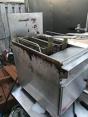 Cecilware Counter Top Deep Fryer yellow flame and shoots up top when ran on Lp