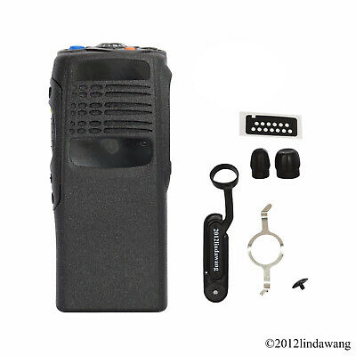 Black Housing Cover Front Case Kit Replacement for Motorola GP340 Portable Radio