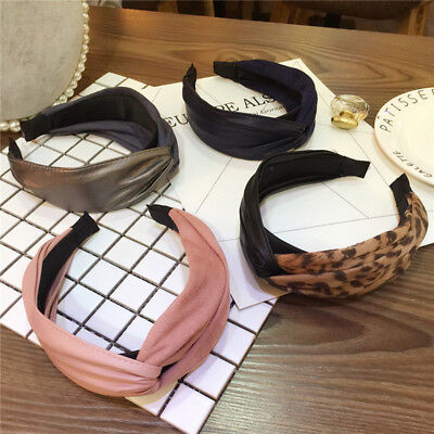 Fashion Women's Leather Suede Knot Cross Headband Hair Band Hair Accessories