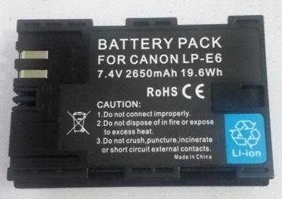 Canon Battery LP-E6 for EOS 5D2 5D3 6D 60D 70D 7D Mar