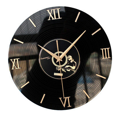 3D Stereoscopic Acrylic CD Wall Clock Classic Surface Roman Numerals Decor