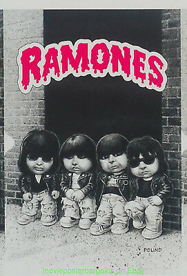 THE RAMONES POSTER GARBAGE PAIL KIDS Trading Cards ?? UNCUT SHEET JOHN POUND ART