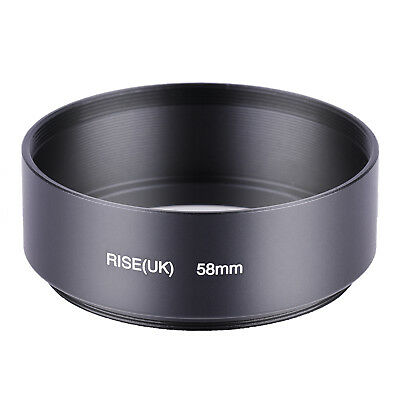 Metal 58mm Universal Standard Lens Hood with Screw Mount for 58 DSLR Camera Lens