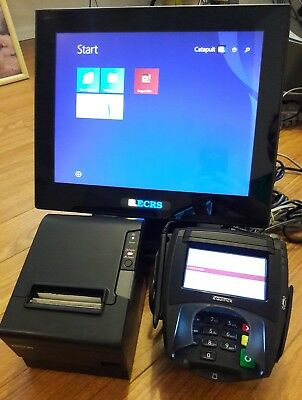 Point of sale ECRS POS system register- Touch screen Retail Epson print &Equinox
