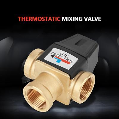 3 Way DN20 Female Thread Brass Thermostatic Mixing Valve For Water Temp Control