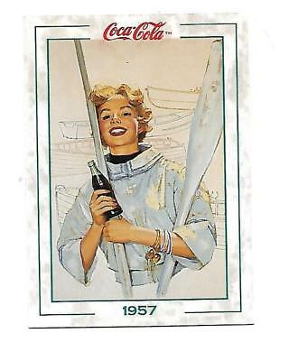 Coca Cola Collection Series 2 (1994) 1957 # 165 Woman Boating Oars Paddles
