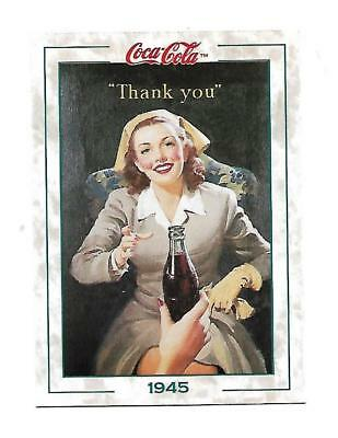 Coca Cola Collection Series 2 (1994) 1945 # 194 Thank you Military Service