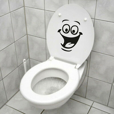 1Pcs Smile Face WC Toilet Decal Wall Mural Art Decor Funny Bathroom Sticker