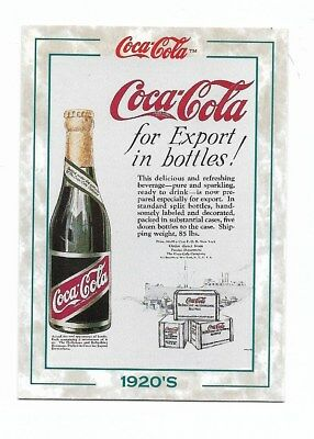 Coca Cola Collection Series 2 (1994) 1920's # 128 Foreign Dept Export Bottles