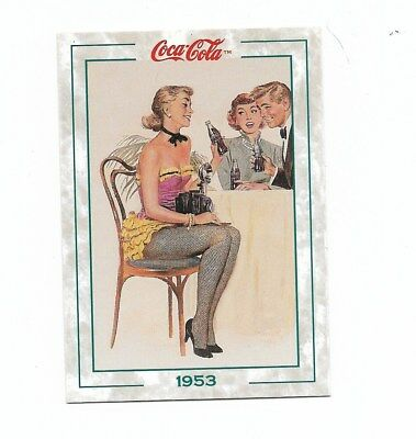 Coca Cola Collection Series 2 (1994) 1953 # 107 Photographer Girl Fact Trivia