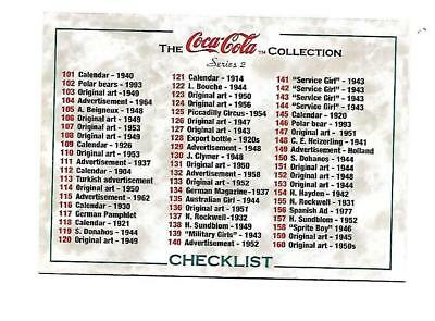 Coca Cola Collection Series 2 (1994)  #200 Checklist for Cards 101-200