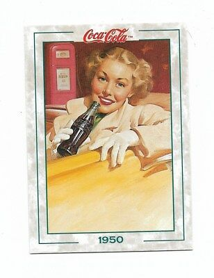 Coca Cola Collection Series 2 (1994) 1950 # 114 Lady in Car Gas Station Trivia