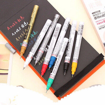 Thin 0.7MM Waterproof Permanent Oil Paint Marker Draw Painting Pen Car Tyre Tire