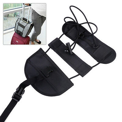 Black Travel Adjustable Luggage Suitcase Belt Add A Bag Strap Carry On Bungee