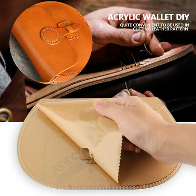 Clear Acrylic Stencil Template Set Handwork DIY Leather Craft Pattern 10 Styles