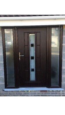 ROSEWOOD ON WHITE Composite External Door - £150.00 | PicClick UK